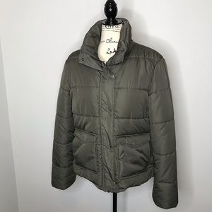 H&M army green padded puffer jacket 14